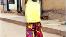 To take a bath in The Gambia, you need to fetch your own water, even if you are a small child. Eight-year-old Abisatou Sallah is going to bathe with the water she is bringing back from the pump.