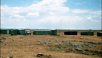 The mobile health staff found that most of the people had left this flat and dry area for other, wetter places.