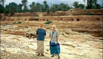 PCV Ann Rubenstein (left) and I stand in the dry riverbed in Agadir L'henna. The riverbed may fill up for a day after a flash flood, but afterward will quickly subside.