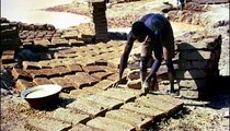 Garba Ibrahima makes adobe bricks consisting of water, clay, straw, and manure. Brick-making is a dry-season activity. People will buy the bricks to build houses, graineries, and stores.