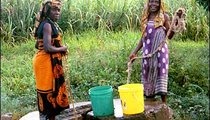 The well serves not only as a provider of water, but also as an area for socializing.